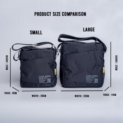 Fido Dido Tall Light Black Sling Bag (SMALL) 1318-3