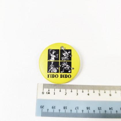 Fido Dido Button Badge Gift